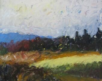 December Fields original oil painting