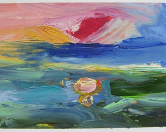 Dream Ocean #1 original oil painting