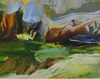 Spring Fields original oil painting