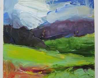 Summer Meadow original oil painting