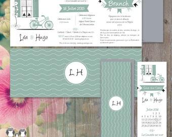 """Ile de Re"" wedding invitation"
