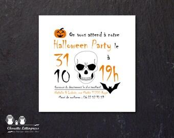 Printable HALLOWEEN PARTY - invitation + DIY decor