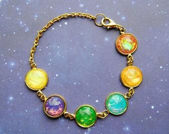 BACKORDER - Infinity Gem Bracelet - Infinity Stone Inspired - The Avengers - Thanos - Infinity Wars - Fandom Fashion - Nerdy - Geeky