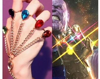 BACKORDER -- ORIGINAL Infinity Gauntlet Handchain - Avengers Inspired -  Marvel Inspired-- Thanos - Cosplay - Infinity Stones - Infinity War 574783fa0cc6