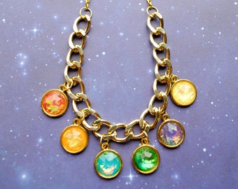 BACKORDER -- Infinity Gem Necklace -Infinity Stone Inspired - The Avengers - Infinity Gauntlet -  Thanos - Infinity Wars - Fandom Fashion