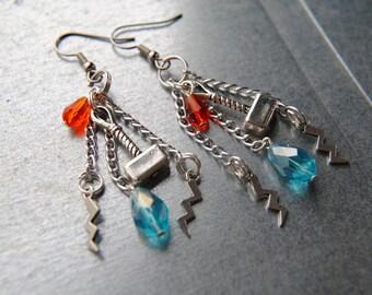THOR Earrings -- The Avengers Inspired -- Mjolnir -- Avengers Jewelry -- God Of Thunder -- Fandom Fashion -- Handmade Jewelry