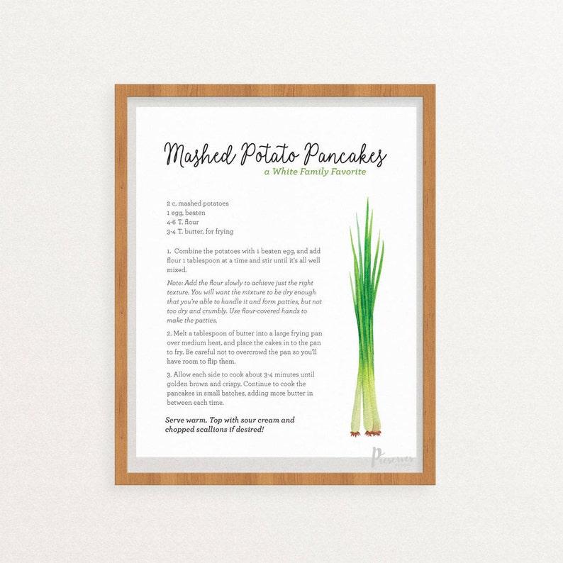 Custom Personalized Recipe Printable  Digital Download image 0
