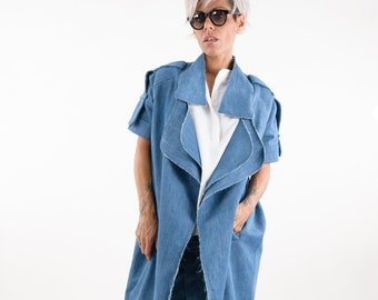 4afe275c3b6 Denim trench coat