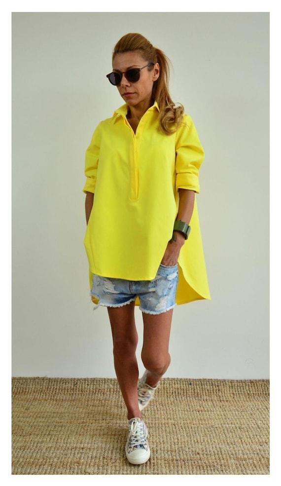 Shirt Tunic Women Summer Maternity Womens Long Shirt Size Yellow Cotton Shirt Shirt Plus Tunic Shirt Tunic Sleeve Shirt Shirt aYwzTxq