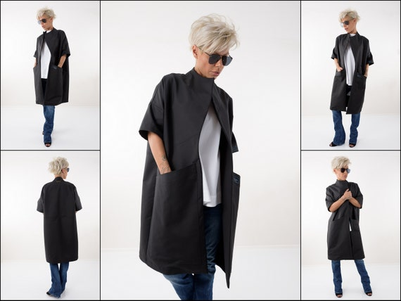 Trench Coat, Black Trench Coat, Kimono Cardigan, Coat Women, Cape Femme, Black Cardigan, Black Cape, Black Blazer, Black Jacket, Maxi Coat by Etsy