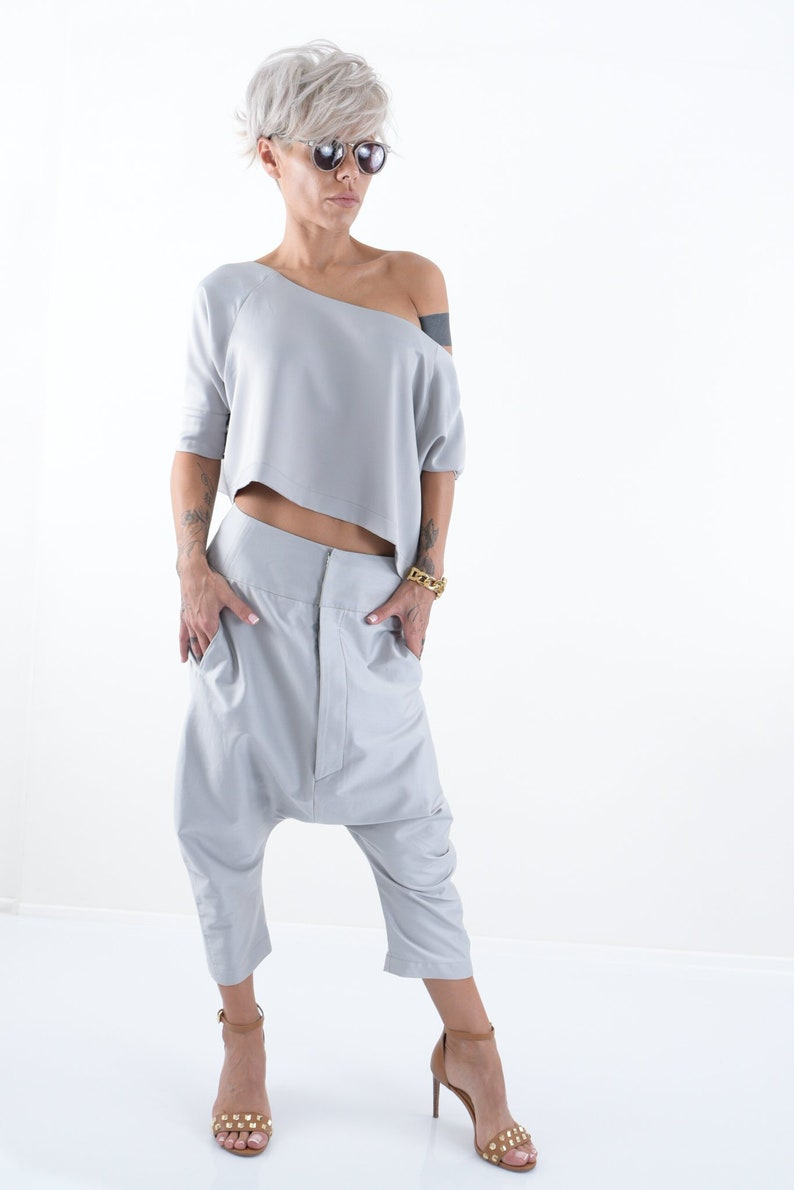 Trendy Plus Size Clothing Harem Pants Boho Pants Wide Leg Pants Women Loose Pants
