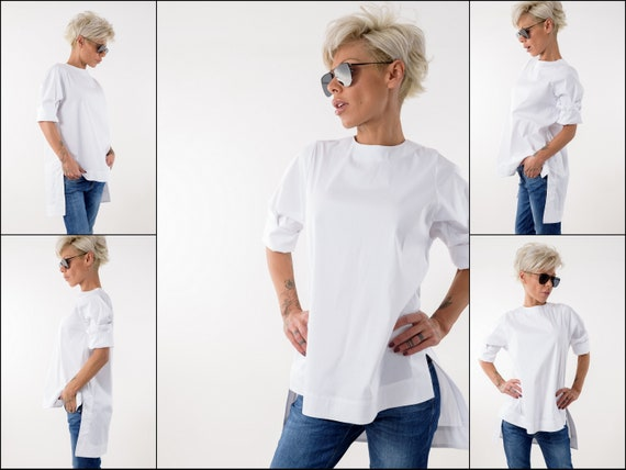 shirt Summer Top White Plus Cotton Size Summer White Tunic Top Shirt Blouse Clothing Plus Shirt Snow Size Tunic Blouse Blouse Shirt Z8EqtxnPYw