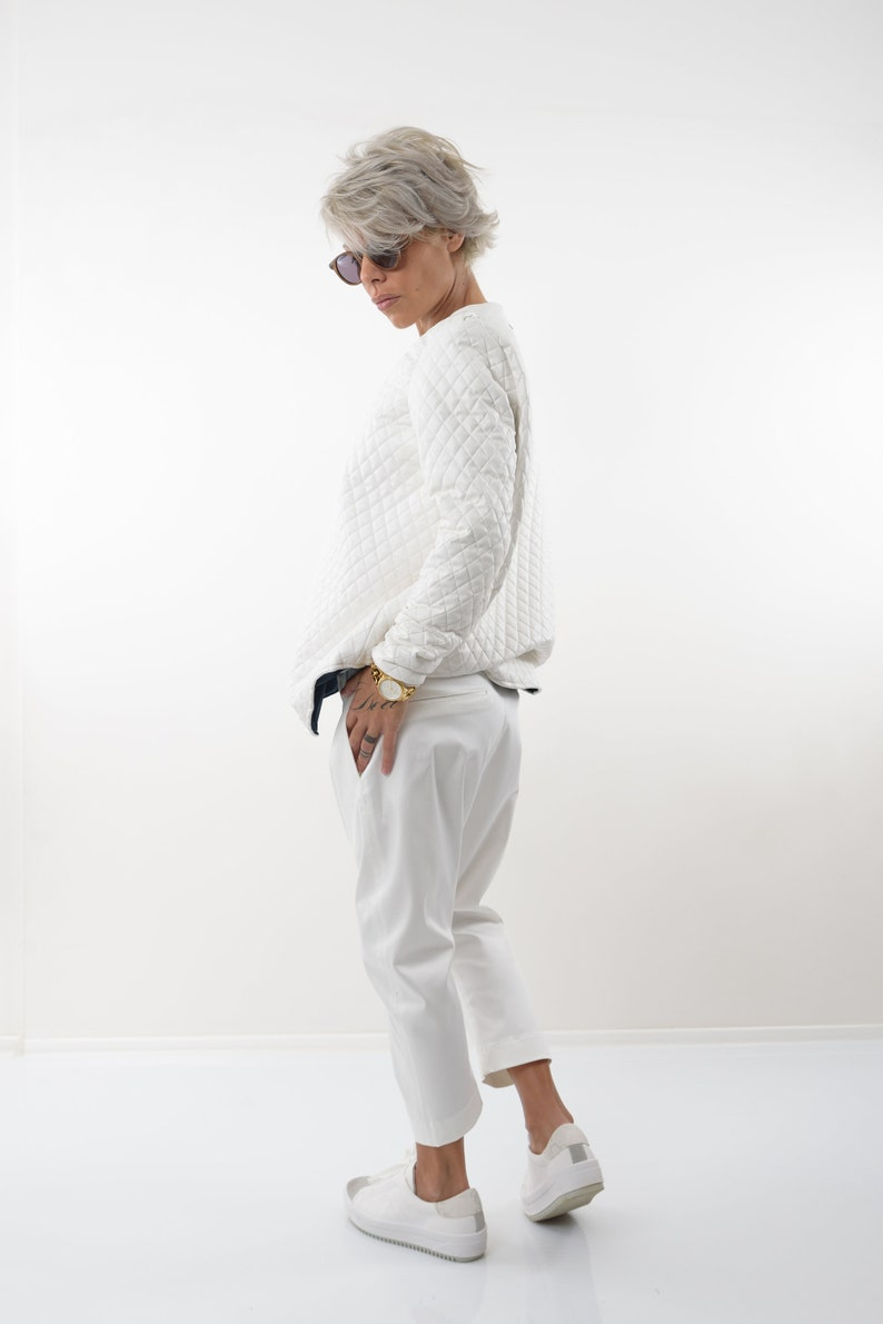 Wide Leg Pants Women Harem Pants Boho Pants Pants Women White Pants Loose Pants Trendy Plus Size Clothing