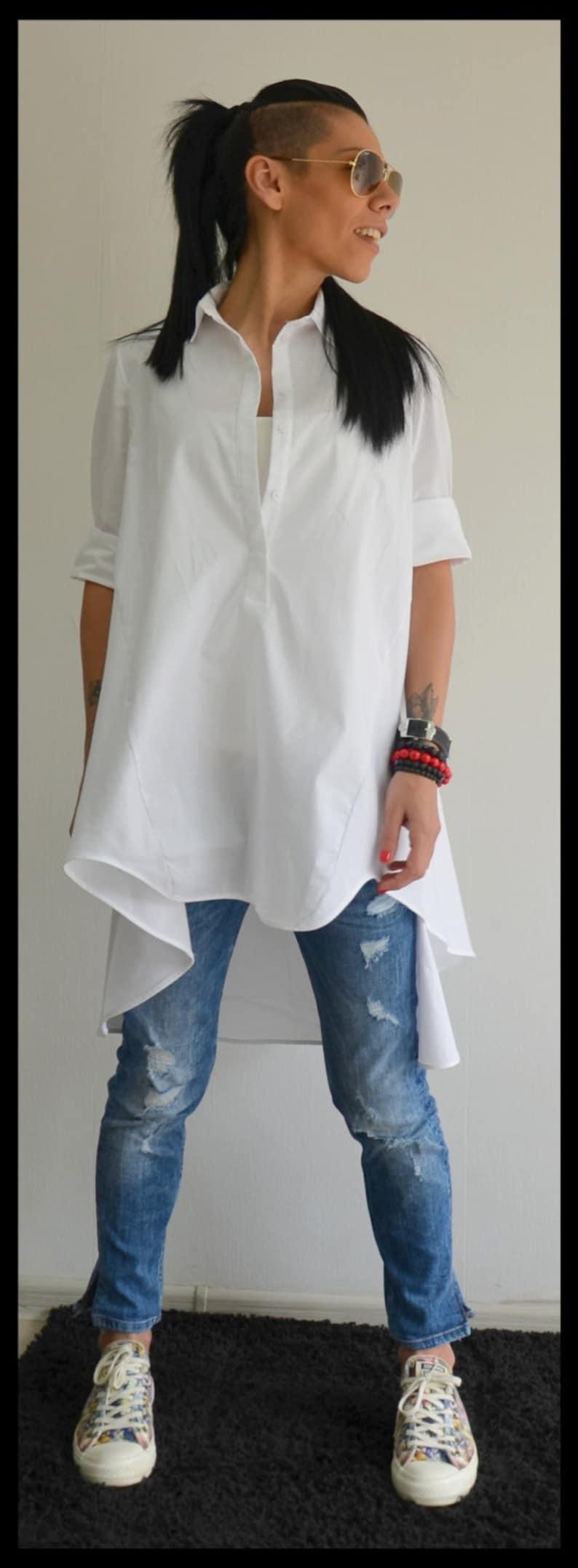 White Blouse Tunic Top Clothing Women Maternity Shirt Plus Size Tunic Plus Size Clothing Shirt