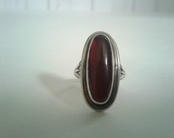 Almandine Garnet and Sterling silver Ring