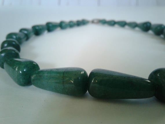 Green Emerald Quartz Beaded Necklace