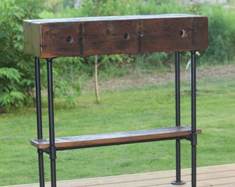 Barn Wood Beam Industrial Sofa Table