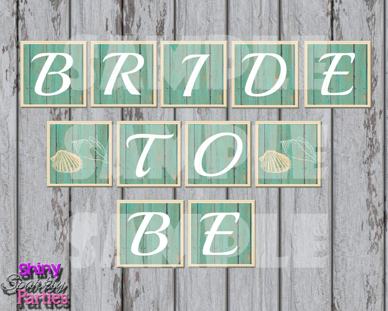 image about Printable Bridal Shower Signs identify Printable BRIDAL SHOWER BANNER - Bride In the direction of Be Banner - Beach front Themed Banner - Seaside Bridal Shower Banner - Wedding ceremony Shower Banner