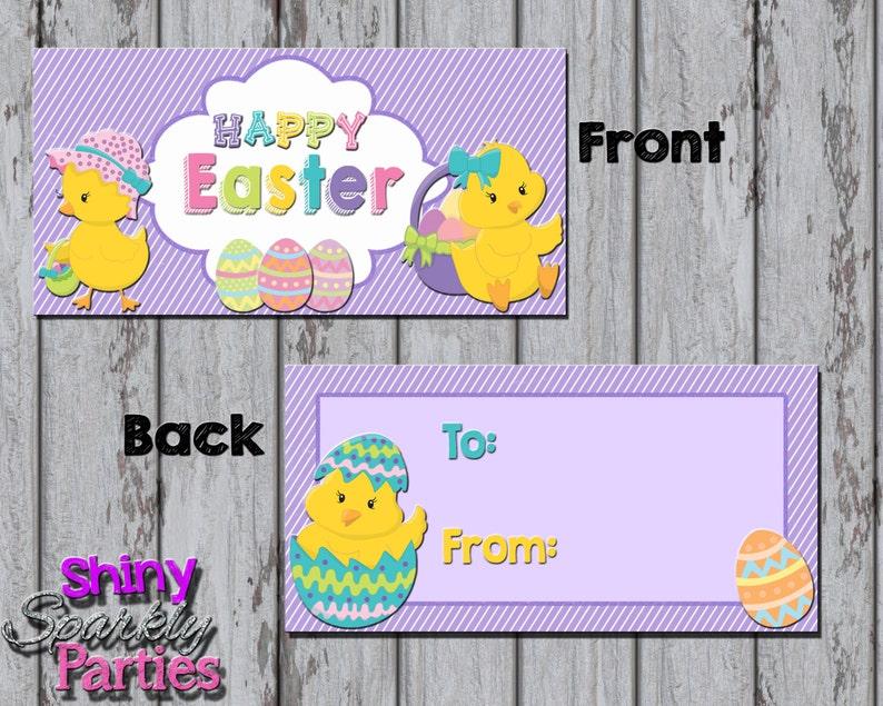 Easter Bag Tags Easter Chicks Diy Easter Gifts Happy Easter Favor Tags Easter Chick Treat Bag Toppers EASTER Treat BAG Toppers