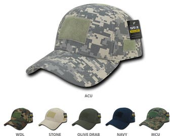 d9c356a42322a Firm Low Profile Tactical Operator Cap with Loop Patch (T78)