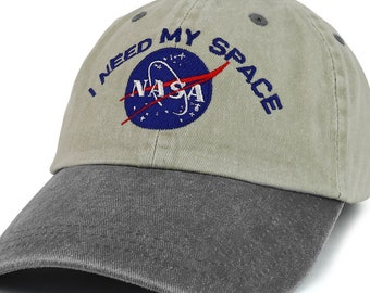 I NEED MY SPACE Nasa Meatball Embroidered 100% Cotton Cap | Etsy