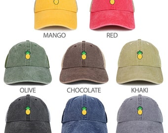5715e5a6ad4 Pineapple Patch Washed Pigment Dyed Soft Trucker Baseball Cap