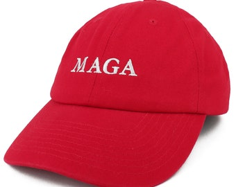 Armycrew Made in USA Donald Trump MAGA Embroidered Unstructured Soft Crown  Cap c9f6a1e7115e