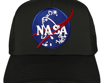 62575c7d571 XXL Oversize NASA Insignia Logo Patch Mesh Back Trucker Baseball Cap  (30-287XX-INSIGNIA)
