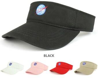 470b46f5b20 NASA Insignia Logo Embroidered Cotton Adjustable Visor Cap - 3001-INSIGNIA