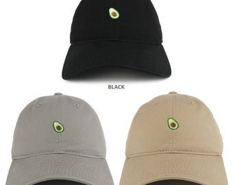 Small Avocado Embroidered Washed Cotton Soft Crown Dad Hat - Available in 3  Colors! (C03-AVOCADO) 28de609beb22