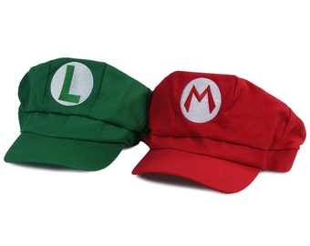 Mario and Luigi Embroidered Nintendo Cosplay Newsboy Hat - 5 Colors 9a6ae6c5d760