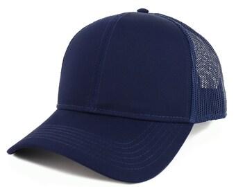 XXL Oversize Plain Baseball-Cap Structured Trucker Mesh Hat for a Big//Large Head