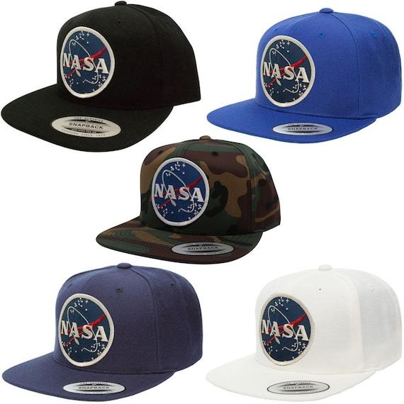 Flexfit Original Classic Snapback Cap with NASA Meatball Logo  52429901b15