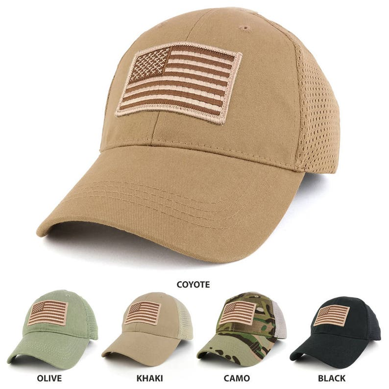 e08dd9793 USA American Flag Desert Embroidered Tactical Patch with Mesh Operator Cap  (EC-72063-USA-Des-Mesh)