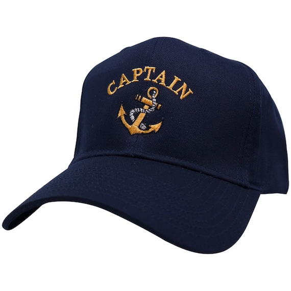 51a57d18ba6 Captain Anchor Logo Embroidered Plain Baseball Cap 3 Colors