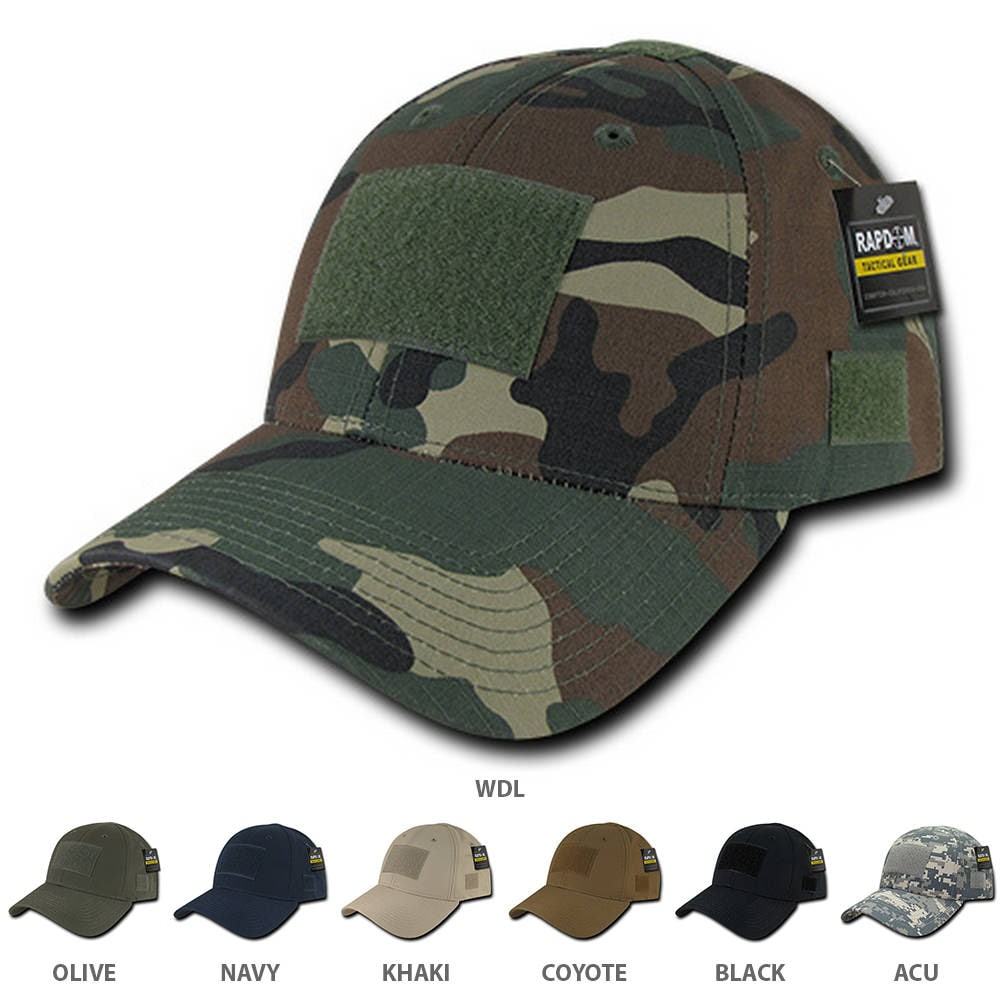 Tactical Operator Ripstop Cotton Baseball Cap with Loop Patch (T77)