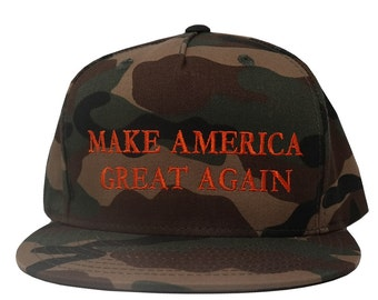 Donald Trump Make America Great Again CAMO Hat - Quality Embroidered Cap