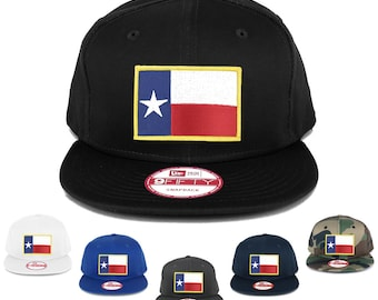New Era 9FIFTY Texas State Flag Embroidered Patch Flat Bill Snapback Cap (NE400-FPA-544)