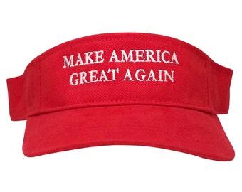Donald Trump Visor, Make America Great Again - Quality Embroidered 100% Cotton Visor Cap