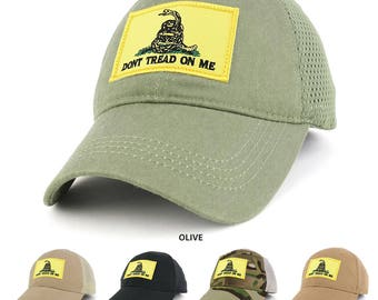 Dont Tread on Me, Yellow Gadsden Snake Embroidered Tactical Patch with Mesh Operator Cap (EC-73461-GADSDEN-MESH)