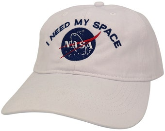 NASA I Need My Space Embroidered 100% Brushed Cotton Soft Low Profile Cap (6 Colors)