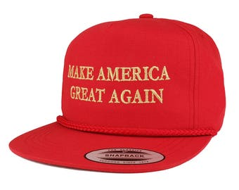 Make America Great Again Donald Trump METALLIC GOLD Embroidered Cap