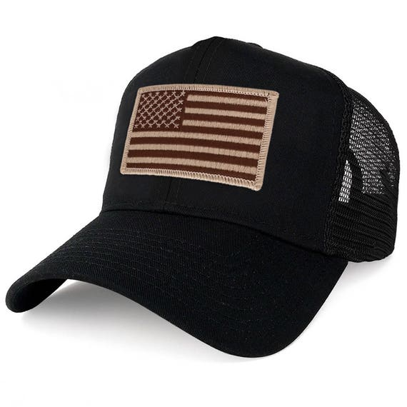 070f9ad8d81 xxl Oversize Desert usa Flag Patch Mesh Back Trucker Baseball