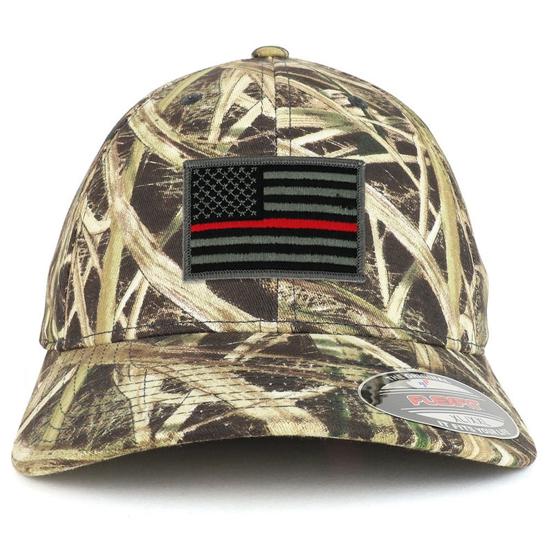 XXL Oversized Mossy Oak Thin Red Line American Flag Patch  4a51151022b0