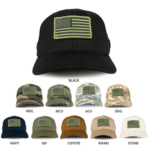 USA Olive Flag Tactical Patch Structured Operator Baseball Cap  eda5a1f7620