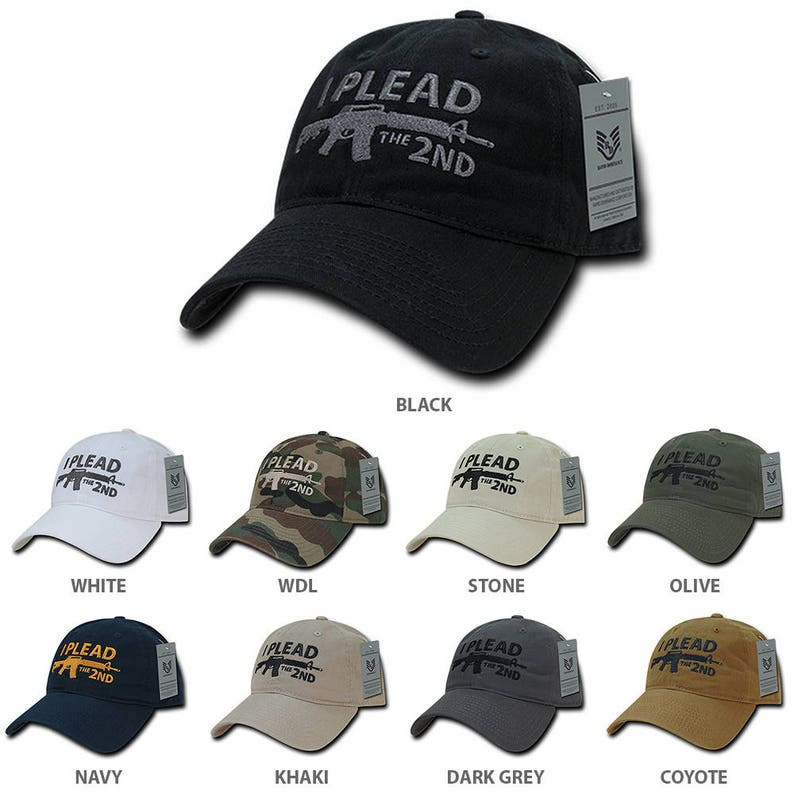 dc18ff53f2a7b I Plead the 2nd Embroidered Soft Crown Washed Cotton Baseball