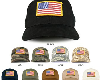 USA Yellow Flag Tactical Patch Structured Operator Baseball Cap (T75-17775)