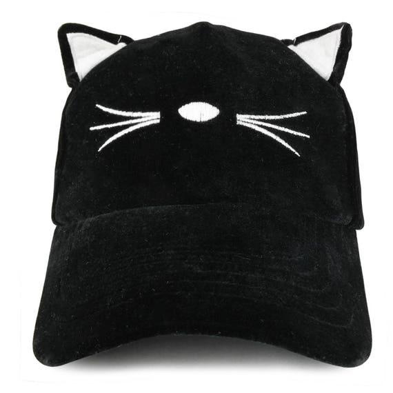 88304ac4158 Costume Cat Ear and Whisker Velvet Structured Baseball Cap