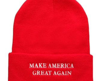 Donald Trump Make America Great Again Embroidered Winter Cuff Folded Beanie (5001-MGC)