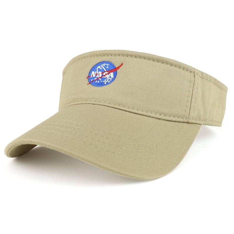 NASA Insignia Logo Embroidered Cotton Adjustable Visor Cap 3001-INSIGNIA